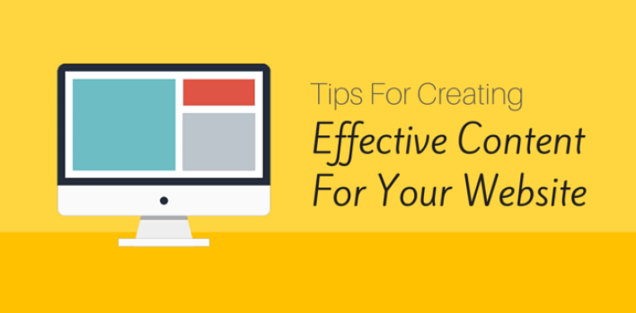 How to create effective content on the web