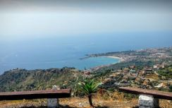 view from hotel taormina