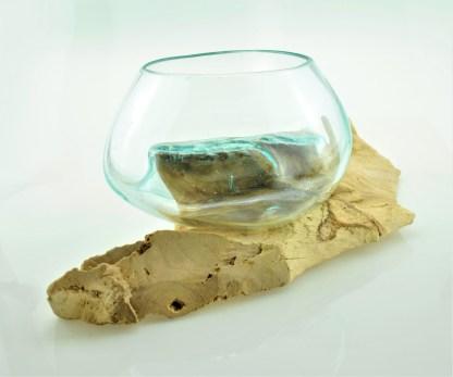 Liqva Holzdeko mit Glas