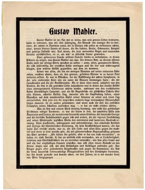 Schoenberg's Mahler obituary (p1)