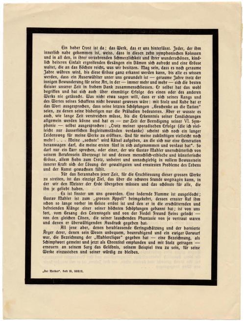 Schoenberg's Mahler obituary (p2)