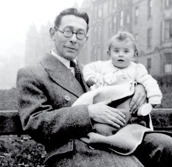 Hans Gál with daughter Eva in Edinburgh 1944
