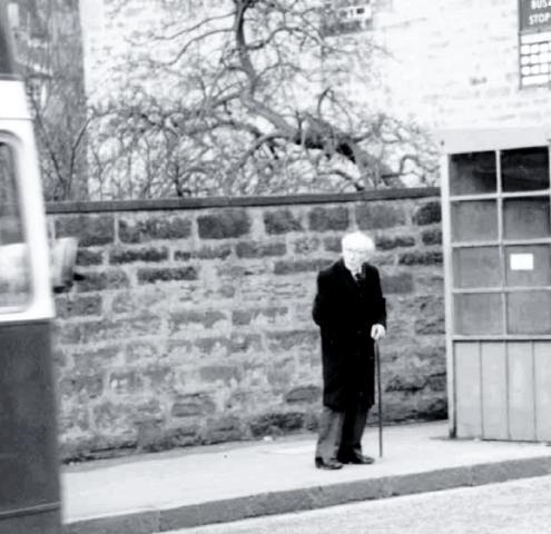 The last photo of Hans Gál in Edinburgh 1987
