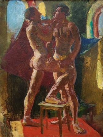 Kolig's Double Male Nude