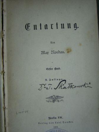 Max Nordau's 'Entartung'
