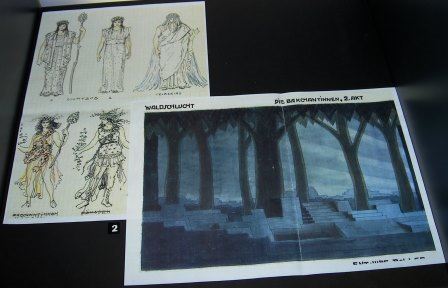 Alfred Roller's sests and costumes for 'Die Bakchantinnen'