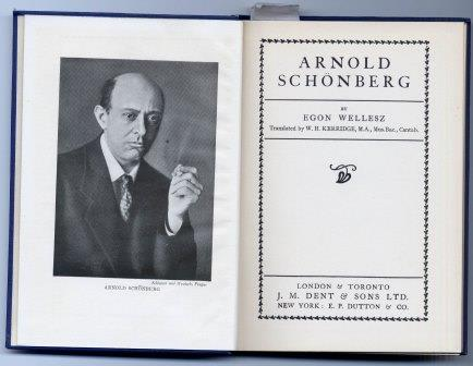 English Edition of Wellesz's Schoenberg biography, originally published in 1920