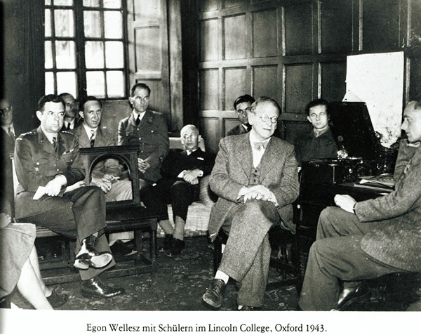 Wellesz in Lincoln College in 1943