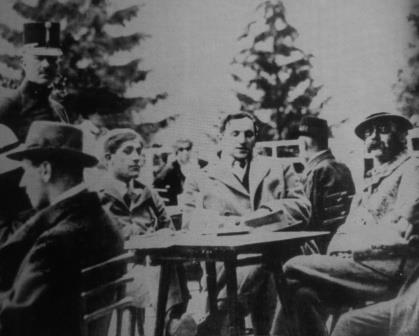 Wellesz's circle of friends: Oskar Kokoschka; Egon Friedell and Peter Altenberg