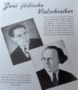 A Nazi attack on Schreker in the 1938 'Entartete Musik' exhibition in Düsseldorf