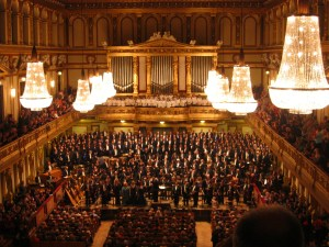 The Vienna Philharmonic in the Golden Hall of the Musik Verein - 2 important private institutions in Vienna
