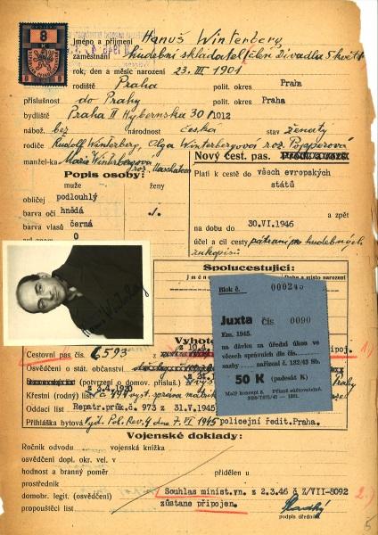 Winterberg passport application 1946