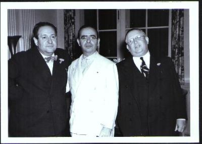 Korngold, Max Steiner, composer of 'Gone with the Wind' and Leo Forbstein head of music at Warner's Bros., 1939
