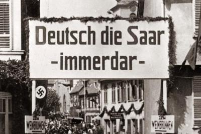 Referendum for unification with Nazi Germany and end of French occupation in the Saarland - 1935