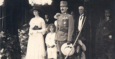 The Emperor Karl the Last of the Habsburgs abdicates and leaves Vienna with his family following defeat in 1918
