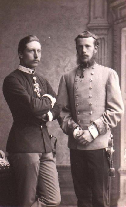 Prinz Rudolf und Wilhelm 1883