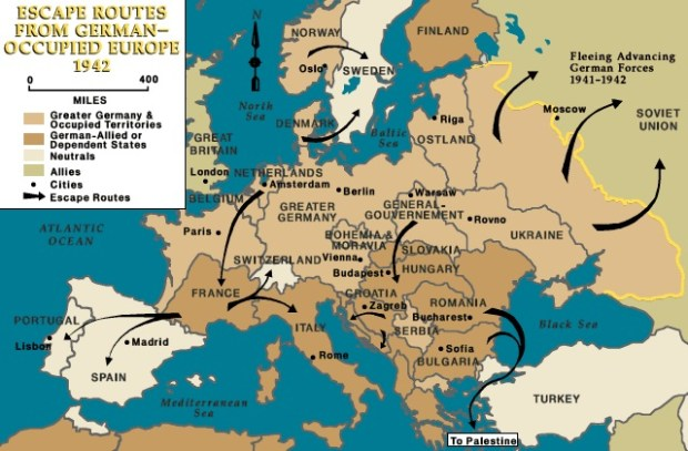 Escape routes in Europe