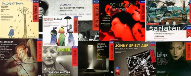 entartete musik collage