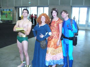 Cosplayers at Comikaze