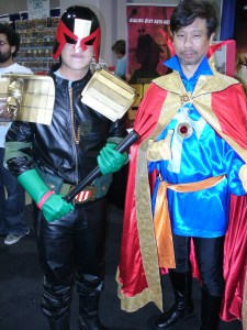 Cosplay: Judge Dredd and Dr. Strange