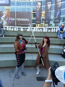 Gambit Cosplayers facing off at WonderCon 2013