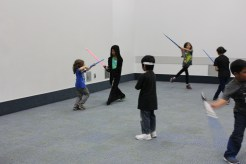 The dreaded lightsaber to the eye trick... every Syth hates that...