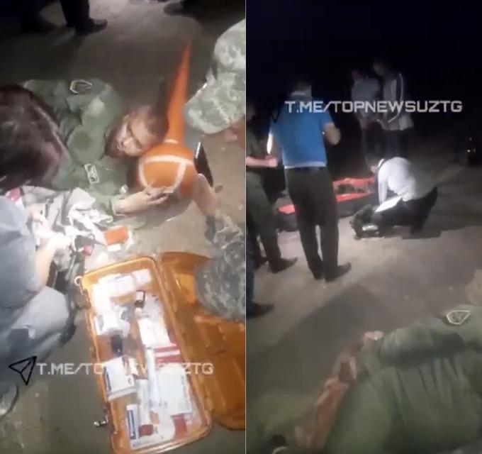 A verdadeira história da queda A-29B do Afeganistão no Uzbequistão. Pilotos do A-29B do Afeganistão são resgatados, após acidente com MiG-29 (Foto: Redes SociaisTME/TOPNEWSSUZTG).