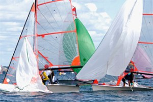 custom racing sails by Force 10 Sails on the course