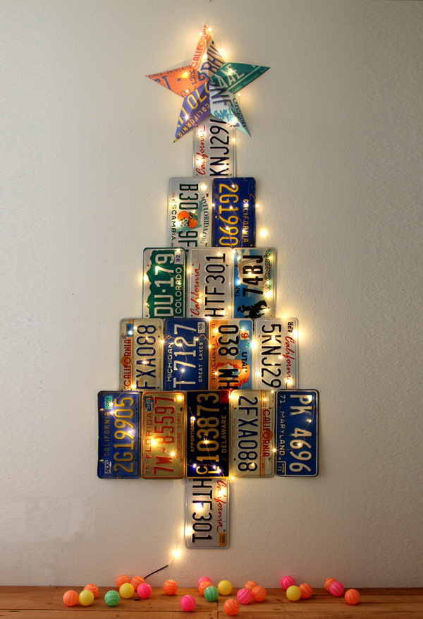 License Plate Christmas Tree.