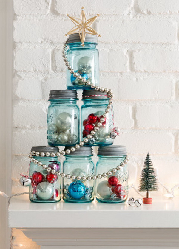 Mason Jar Christmas Tree.