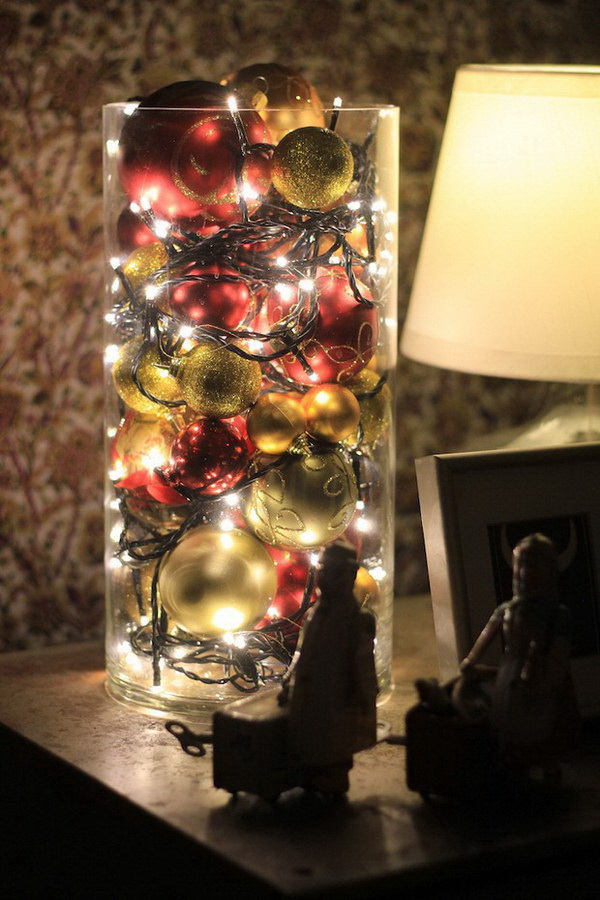 christmas ball luminary - Christmas Ball Decoration Ideas