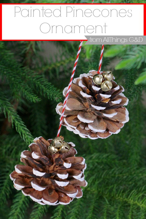 Painted Pinecones Ornaments: