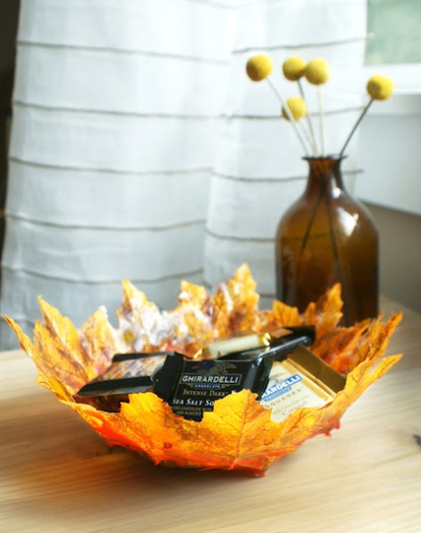 DIY Autumn Leaf Bowls.