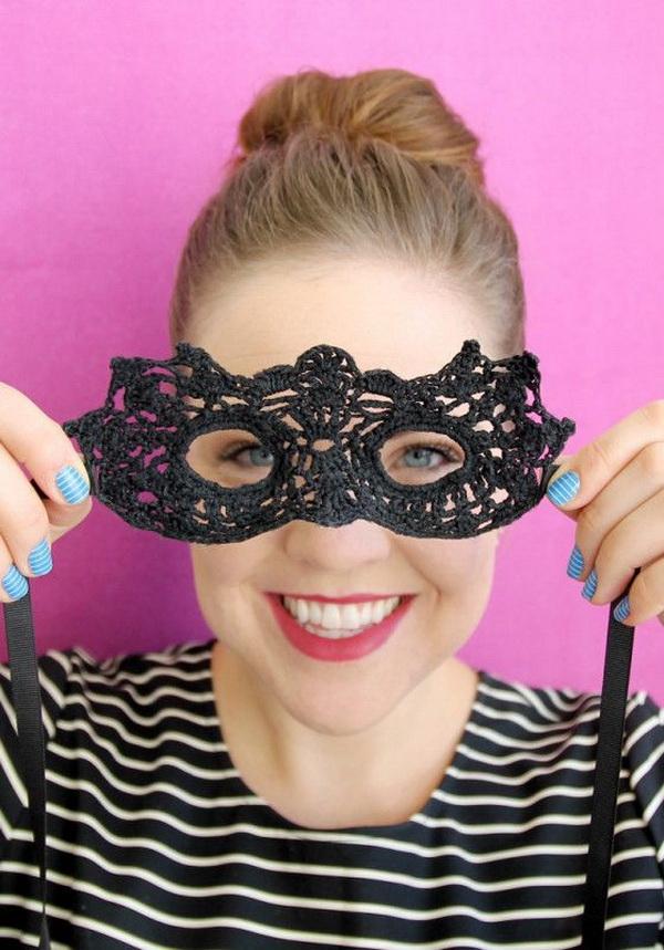 DIY Crochet Masquerade Mask.
