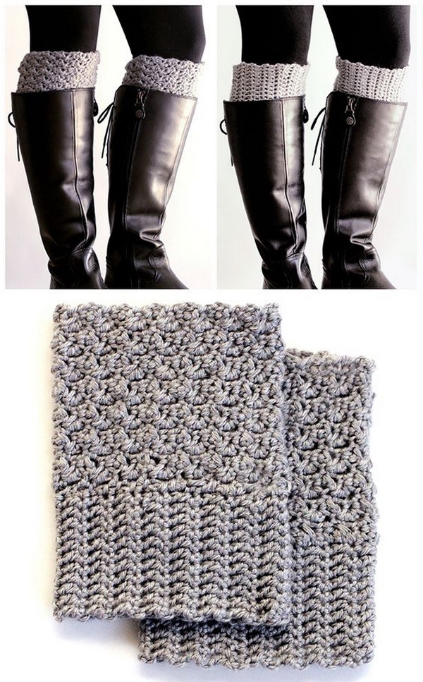 Easy Reversible Crochet Boot Cuffs.