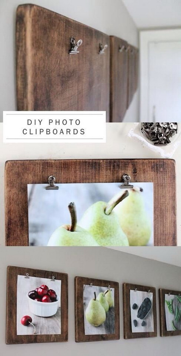 Diy Photo Clipboards Group Your Favorite Photos Together To Create A Fun Gallery Wall