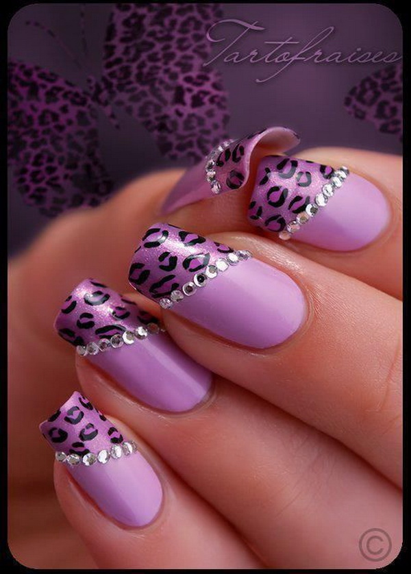 leopard and cheetah print nail designs.
