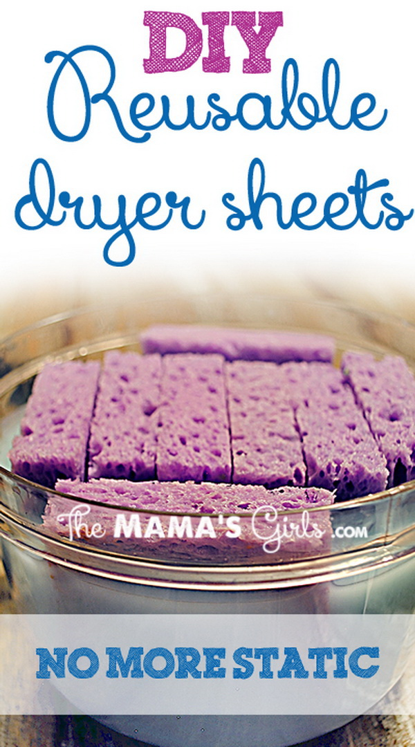 DIY Reusable Dryer Sheets with Fabric Softener.