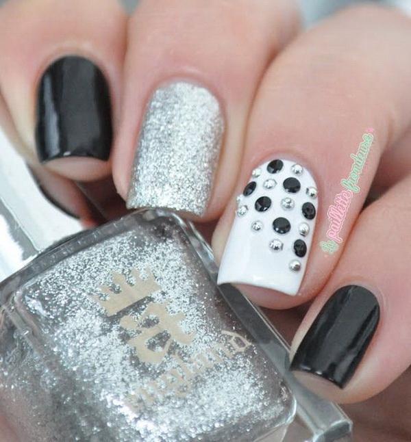 30 Stylish Black White Nail Art Designs For Creative Juice