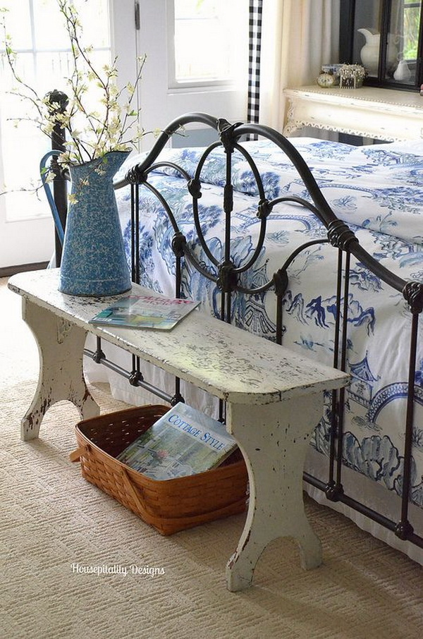 Vintage Bench for Guest Room.