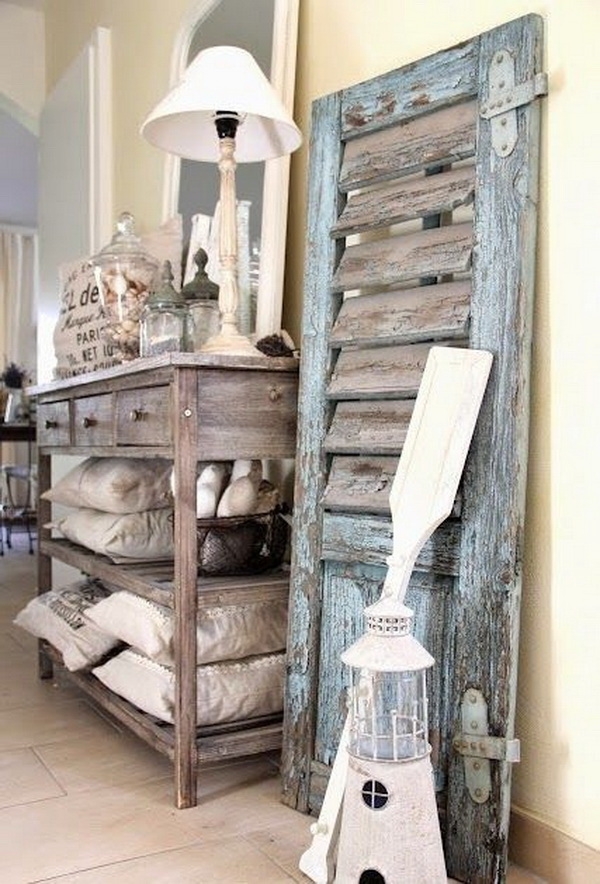 Rustic Decorating Style for Laundry Room.