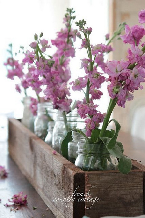 Rustic Box Centerpiece for Dinning Room.