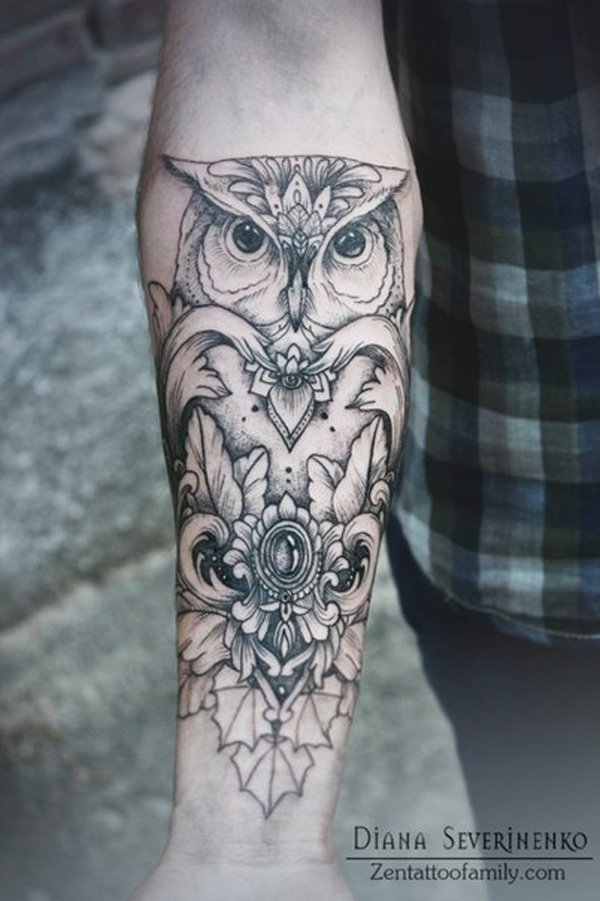 Olw Forearm Tattoo.What a cool tattoo design idea!  Love it very much! This will be my next tattoo design. via https://forcreativejuice.com/awesome-forearm-tattoo-designs/
