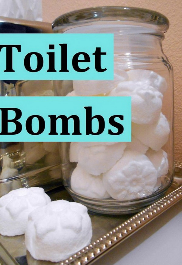 DIY Toilet Bombs. Making your own household products and save a ton of money on the essentials. Get the recipes from for creativejuice.com