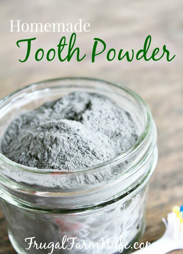 Homemade Tooth Powder. Making your own household products and save a ton of money on the essentials. Get the recipes from for creativejuice.com
