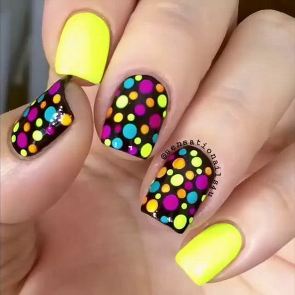 40 pretty polka dots nail designs for creative juice colorful polka dot nail art prinsesfo Gallery