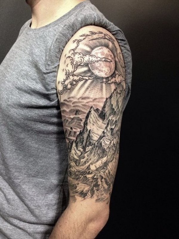 Half Sleeve Tattoo For Men. www. https://forcreativejuice.com/cool-sleeve-tattoo-designs/