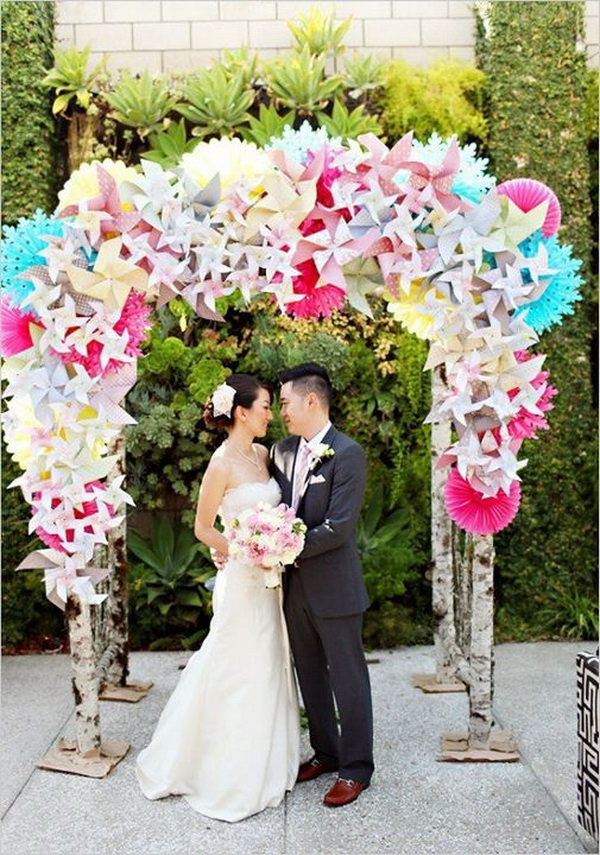 Pinwheels Wedding Arch.