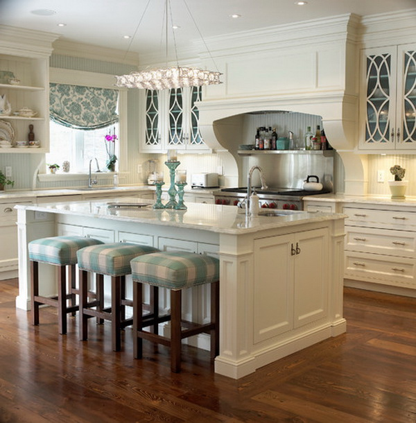 Soft and neutral colors dominated kitchen designb. More via https://forcreativejuice.com/elegant-white-kitchen-interior-designs/