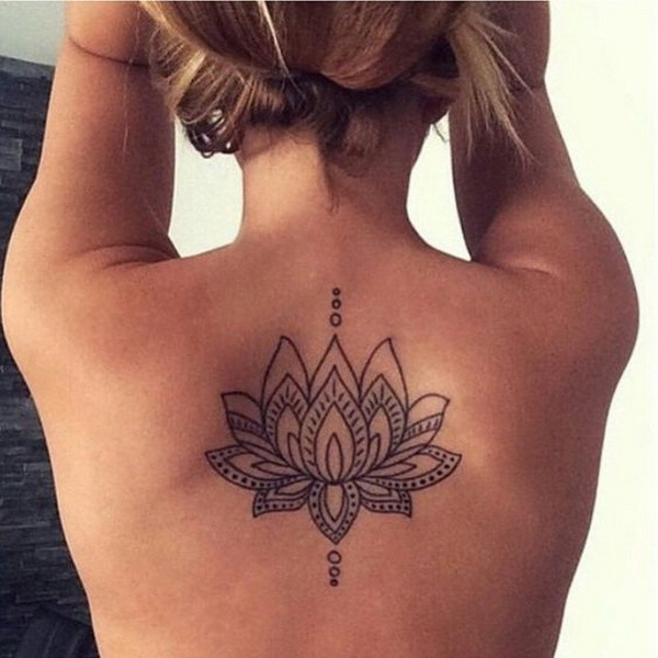 back for women tattoo designs Henna